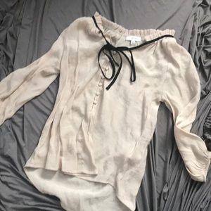 Small, button shirt, tan